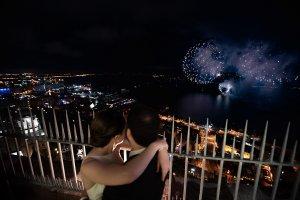 Fireworks wedding Quebec City