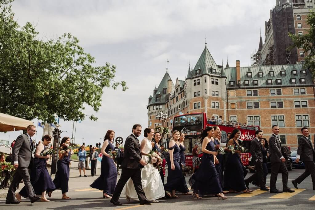 huge wedding party Quebec City