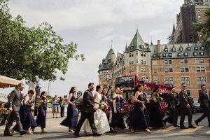 huge wedding party Quebec City