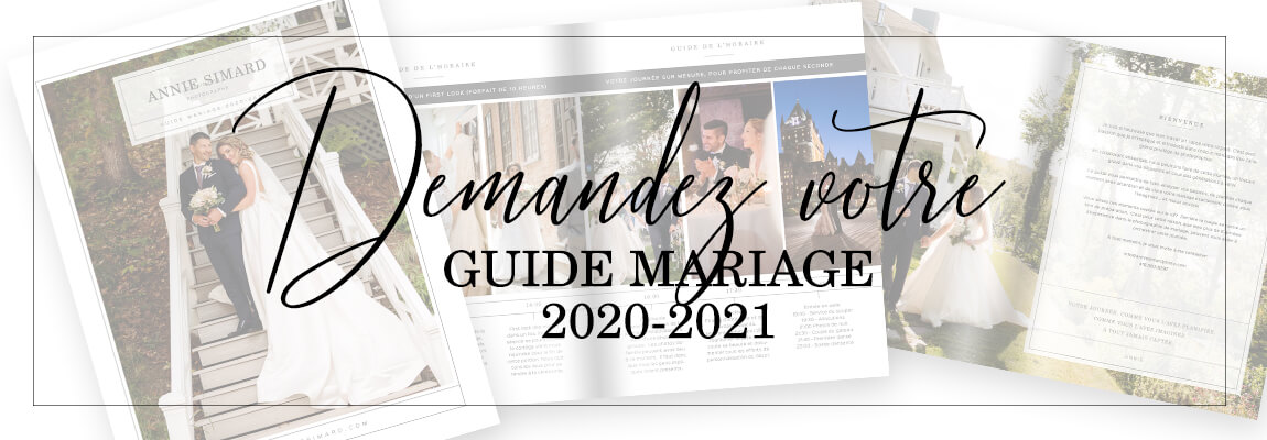 Photographe guide planification mariage à Quebec