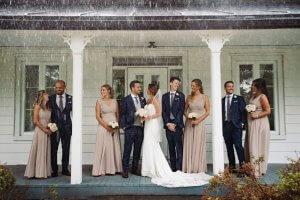 Mariage magique photographe Quebec pluie