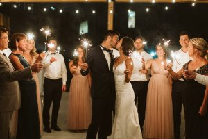 Sparklers wedding party Quebec