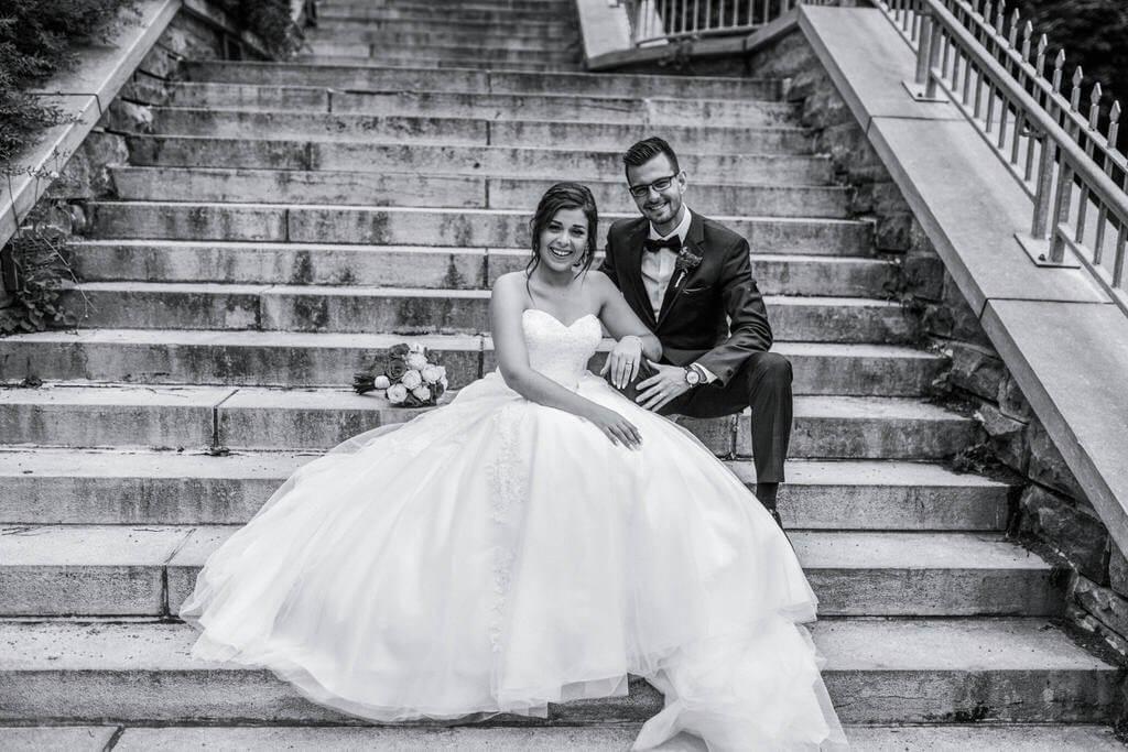 lifestyle wedding young couple Quebec