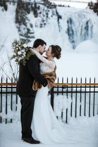 winter wonderland wedding photographer