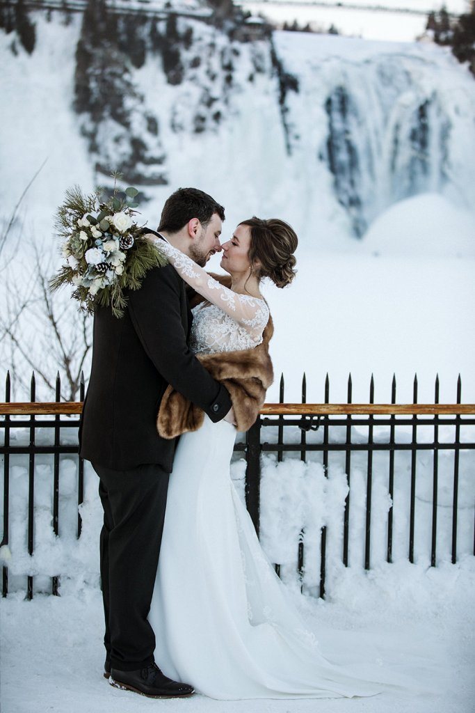 winter wonderland wedding photographer