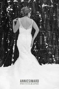 Mariée hiver a Quebec