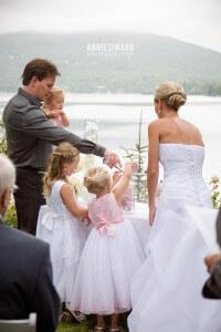 Mariage intime famille enfants