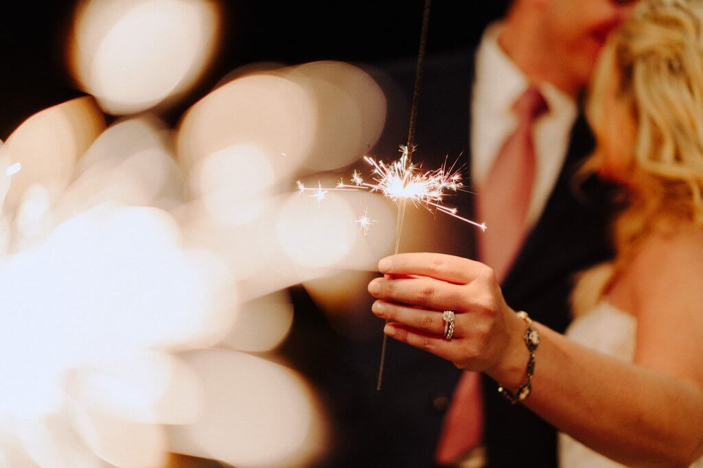Sparklers wedding photographer