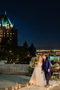 Mariage Quebec by night