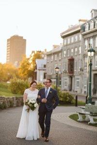 Sunset wedding quebec city photographer