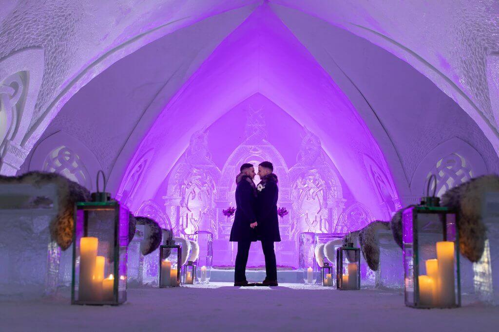 Hotel de glace mariage photographe