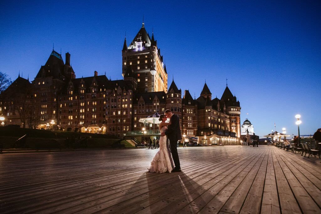 Dufferin Terrace Qedding romantic