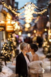 Brides wedding Romantic winter wonderland