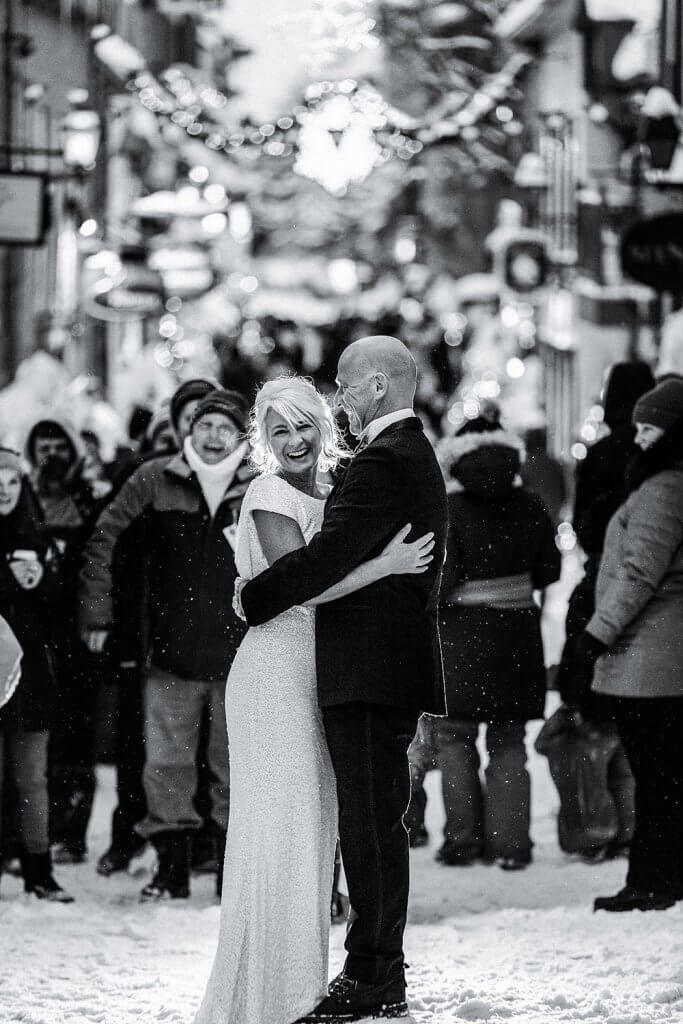 winter wedding Quebec City elopement