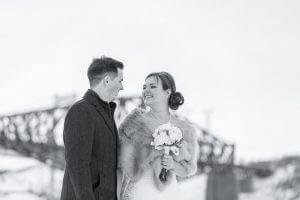 Mariage Marina de Saint-Romuald hiver