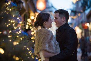 Mariage hiver petit Champlain Vieux-Quebec
