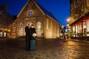 mariage Vieux-Quebec Chateau Frontenac place Royale