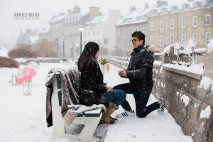 Demande en mariage à Québec