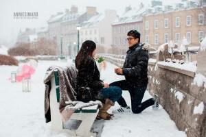 demande en mariage en photo