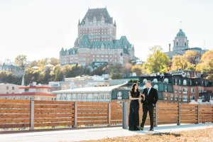 Engagement session Quebec City photographer Chateau frontenac