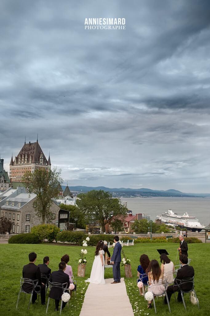 Vue sur le Fleuve mariage, elopement at QuebecCity