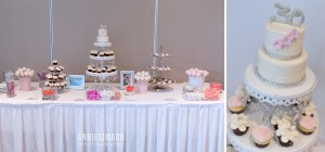 Mlle cupcake sweet table