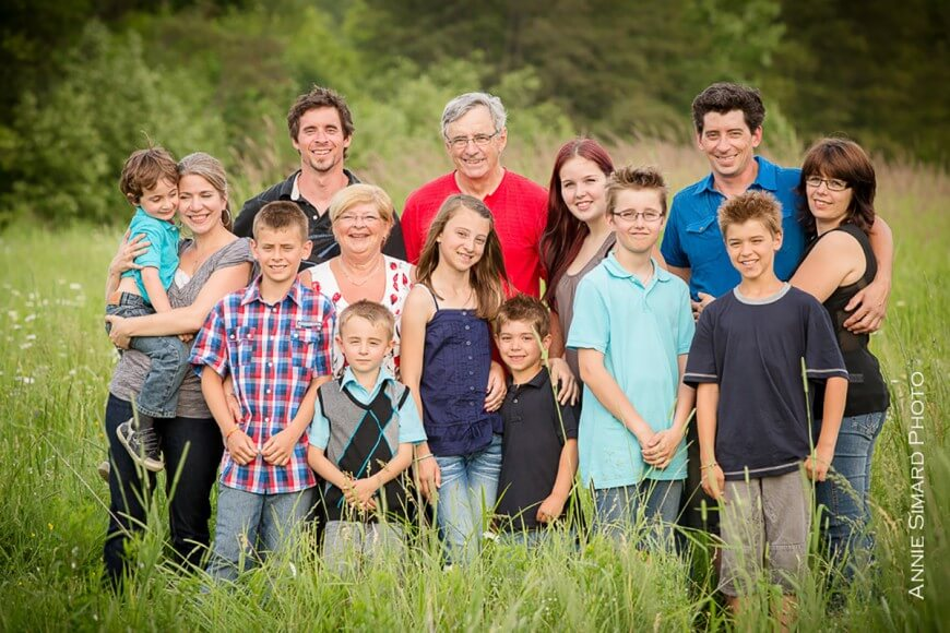 Photos de famille grands-parents