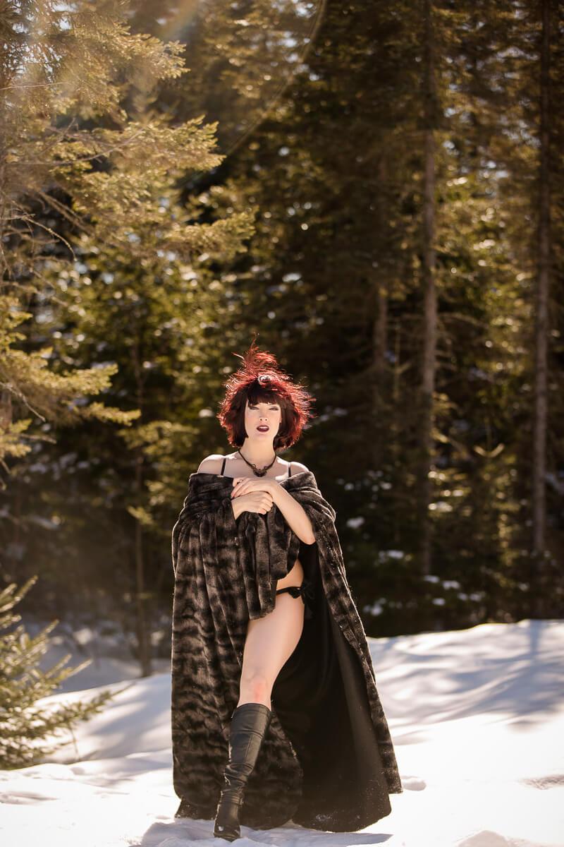Boudoir en hiver photographe de Quebec