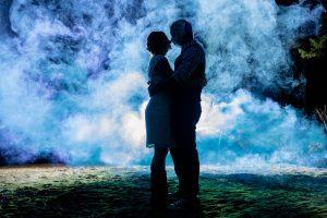 Mariage intime Au Chalet en bois rond