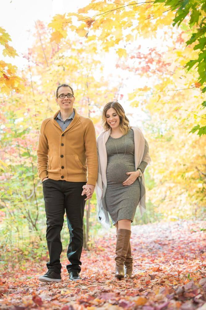 photographe de grossesse à Quebec séance photo exterieur