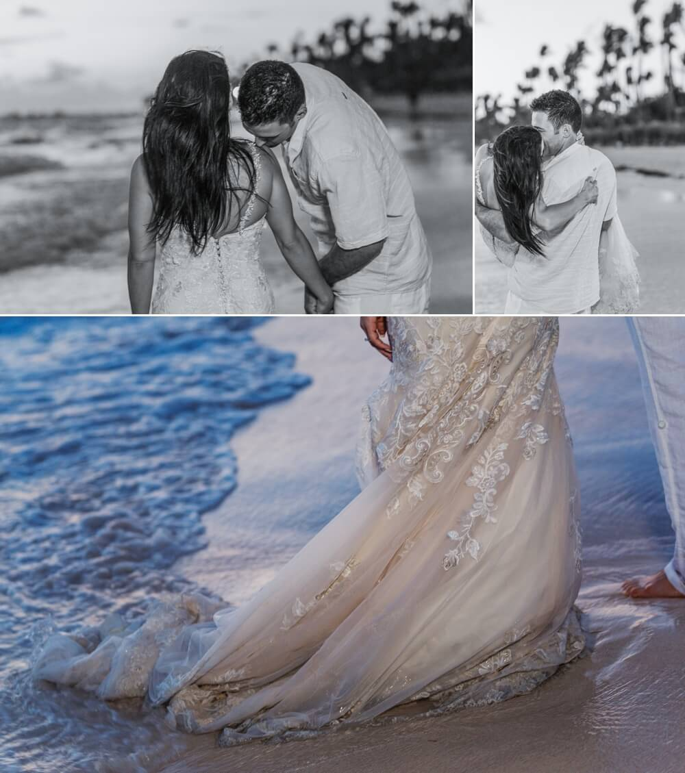 mariage plage photo trash the dress