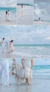 mariage plage coucher de soleil
