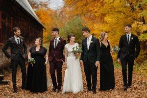Photographe wedding photographer fall magical wedding party