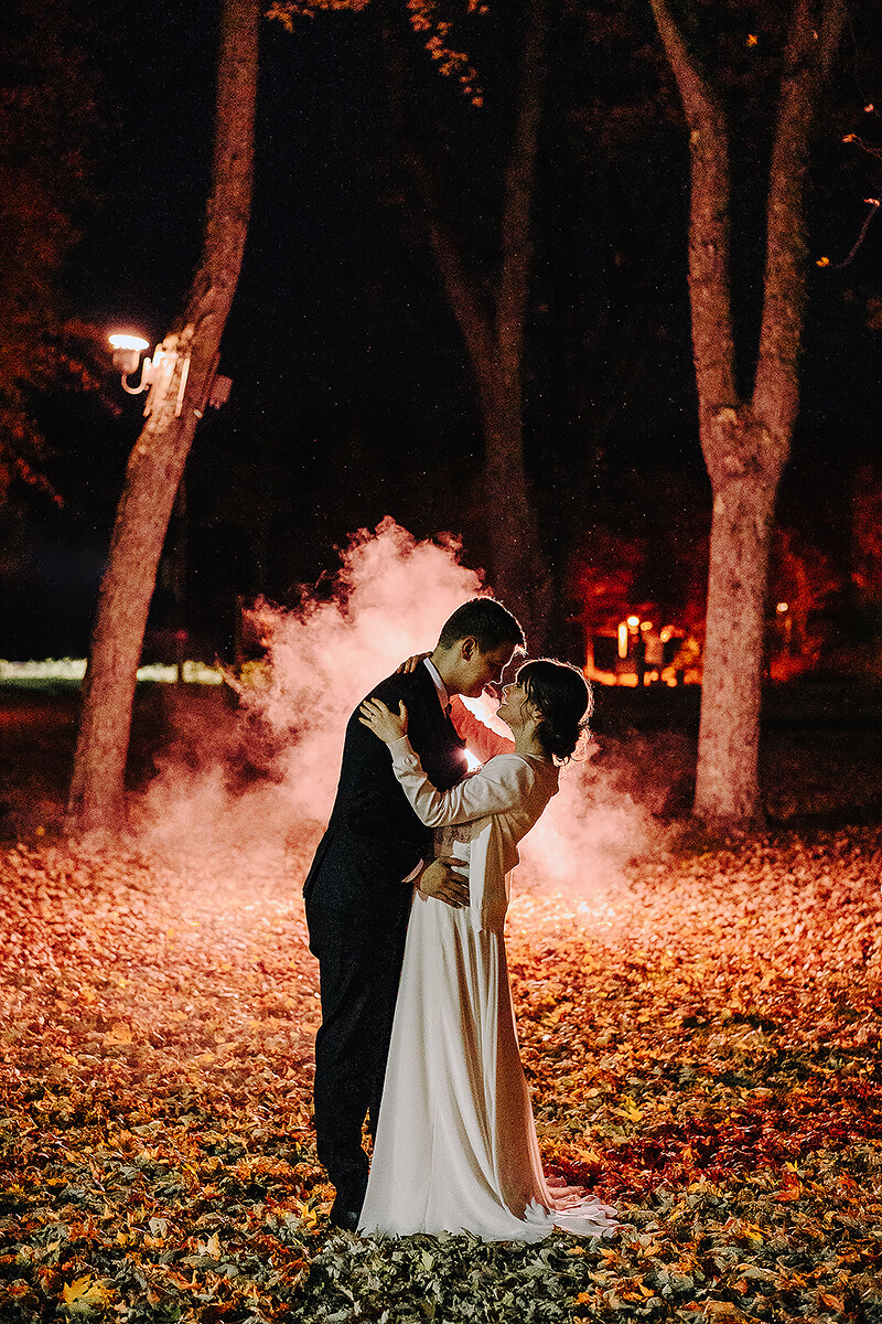 Photographe wedding photographer fall magical